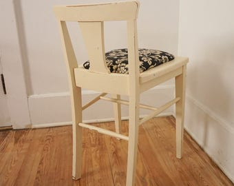 Refurbished Small Vintage Shabby Wooden Chair