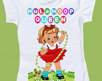 Vintage Hula Hoop, Girls Clothes, Graphic T-Shirts,Ladies tees, Hula Hoop  Queen Original tshirt by ChiTownBoutique.etsy