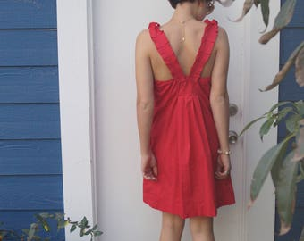 Little Ruffled Red Dress