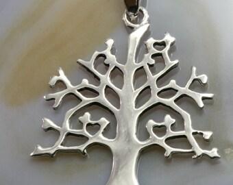 tree of life, silver pendant -  4727