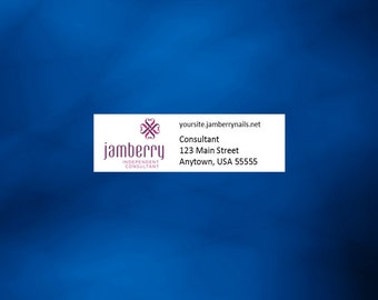 "Jamberry customized return address labels, 1.75"" x .5"""