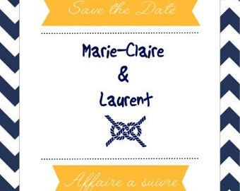 Wedding invitation Save the Date - wedding