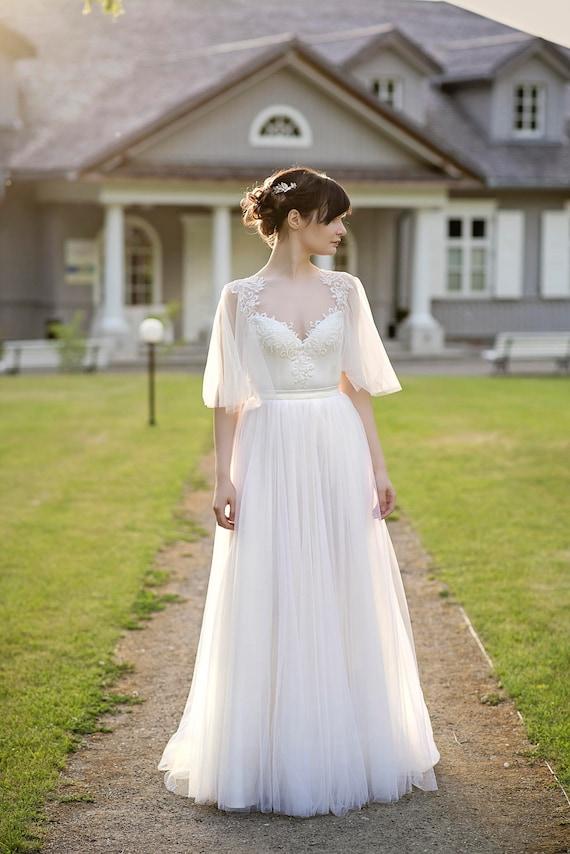 Grace böhmische Brautkleid / wedding dress / öffnen zurück