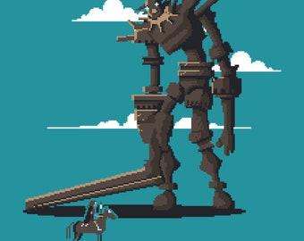 Pixels of the Colossus - Shadow of the Colossus | SOTC | Pixel Art Shirt | Video Game tshirt | SOTC Shirt | pixelart | videogames