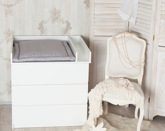 Changing Top + Separation Compartment! Changing Table Top For IKEA Malm  Dresser In White