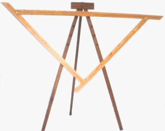 NIB Spriggs 7' Adjustrable Triangle Loom and Stand - Maple