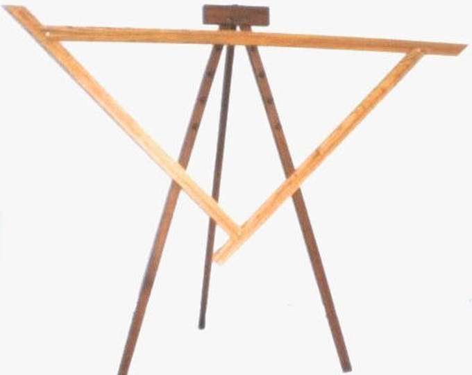 NIB Spriggs 7' Adjustrable Triangle Loom and Stand - Maple