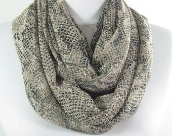 Mothers Day Gift For Her Snakeskin Scarf Shawl Infinity Scarf Circle Scarf Fall Winter Spring Summer Scarf Mom Fashion Accessories 63