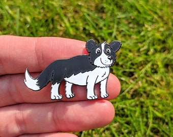 Sheepdog enamel pin, Cute collie enamel pin badge, Sheep gift, lapel pin, Dog gift, funny badge, cute badge, Dog gift, Farmer gift, Cute pin