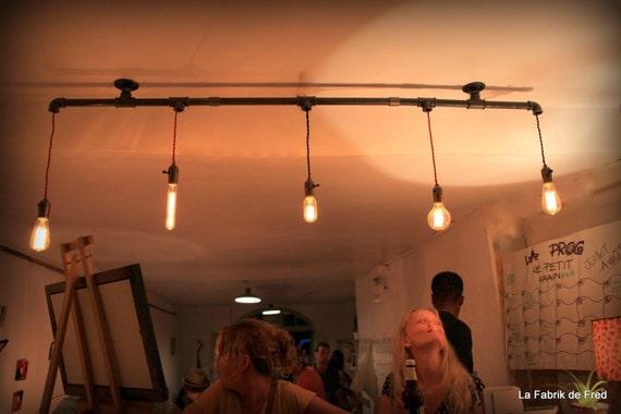 luminaire suspendu lustre plafonnier industriel vintage. Black Bedroom Furniture Sets. Home Design Ideas