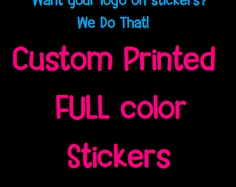 Custom Printed Stickers - Business Marketing - Promotional Stickers - Logo Stickers - Create your Own Stickers - Wholesale Stickers