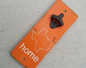 Texas Home Wall-Mount Bottle Opener