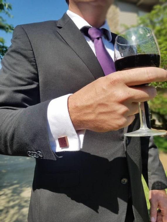 Reclaimed Wine barrel cufflinks groomsmen wedding wedding gift