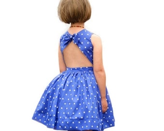 SALE Child Dress PDF Sewing Pattern, The Appelstroop Dress Sized 18mo to 12y