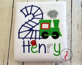 Train Birthday Shirt - Boys Birthday Shirt, Train Shirt, 1st Birthday Outfit, Train Party, For Boys, Number Shirt, Train Party, Toddler