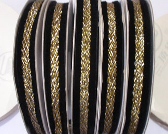 5 Yards Velvet Ribbon With Glitter Ribbon RY-100