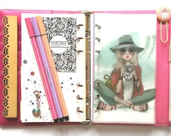 Vellum Camera Planner Girl Dashboard for Filofax Ring Binder, Pocket, Personal and A6 size Rings