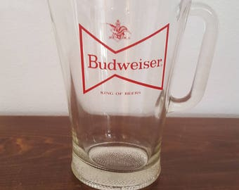 Budweiser Beer Pitcher - King of Beers