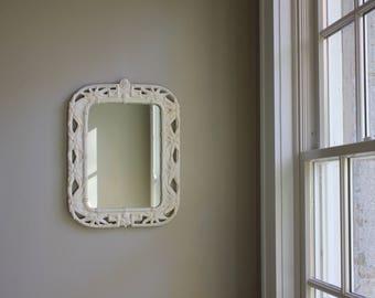 White Plaster Mirror
