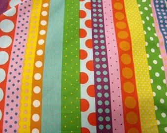 multicolored dots cotton fabric
