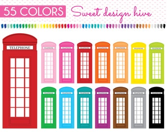 London Telephone Booth Clipart, Telephone Booth clipart, Phone Booth clipart, Telephone clipart, Planner clipart, Commercial Use, PL0262