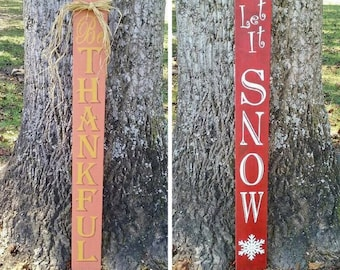 Reversible Holiday Sign Fall/Winter
