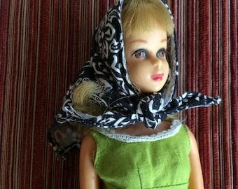 Barbie Scarf,Barbie Hat,Barbie Wardrobe,Barbie Accessories,Barbie Clothing,Barbie Casual,Barbie Gift,Barbie Fan,Barbie Blue Scarf,Barbie Tie