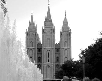 Salt Lake Temple and the Fountain Picture