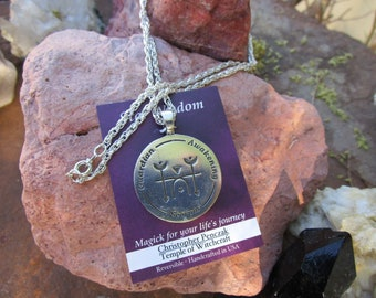 Star Wisdom~Scorpio Zodiac Pendant~Christopher Penczak Temple of Witchcraft~Fine Pewter~Chain Included