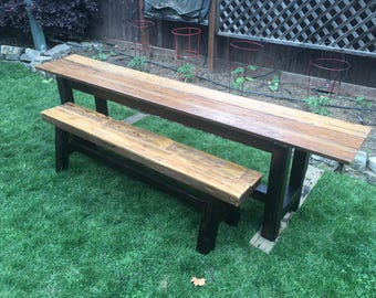 Rustic Farmhouse style consile Table & Bench