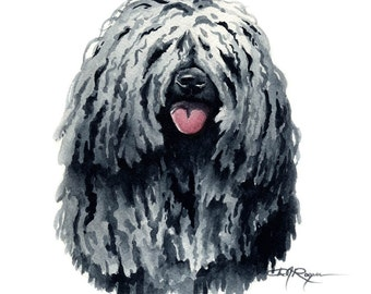 Puli Art Print Painting by Watercolor Artist DJ Rogers