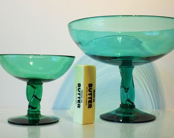 Blenko Four (4) Piece Set From the 444 Series in Sea Green