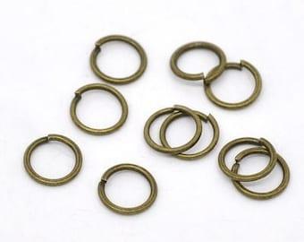 Round rings 6 mm bronze metal (x 50)