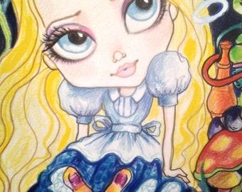 Alice In Wonderland Flowers Mini Collection #2 BigEye Fantasy Fairytale 4 x 6 Prints