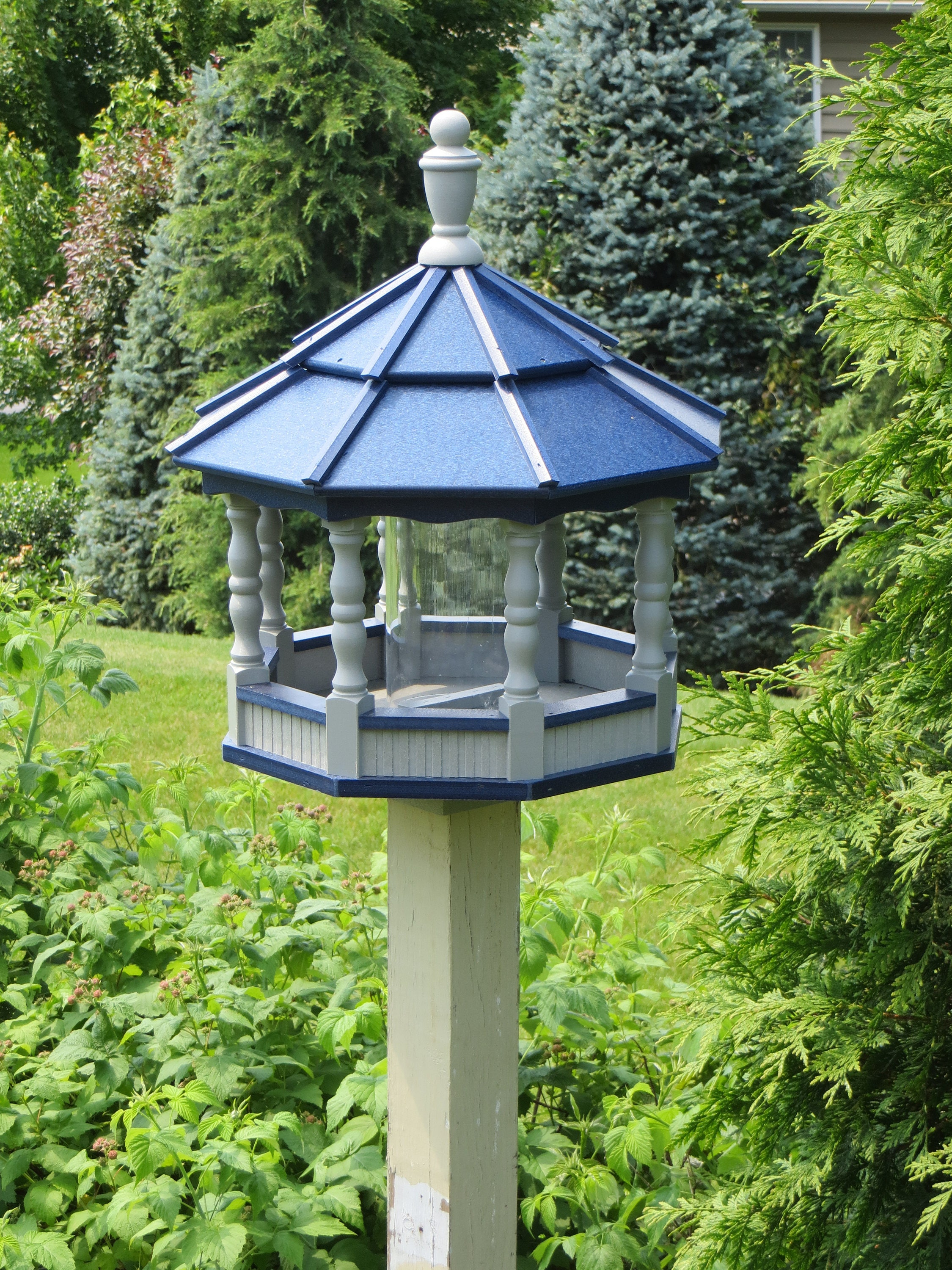 gazebo artline feeder plastic house bird large