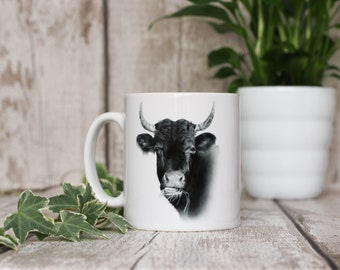COW MUG - Gemma Hayward Art Tea Coffee Animal lovers cup Farmyard