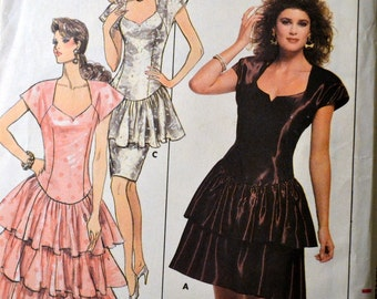 Sewing Pattern Butterick 5924 Evening Dress Kathryn Conover Design Size 6 8 10 Bust 30 to 32.5 Inches Uncut Complete