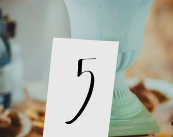 Table Numbers 1-30, Instant Download! Each table number measures 4x6 inches. **Printable Item**