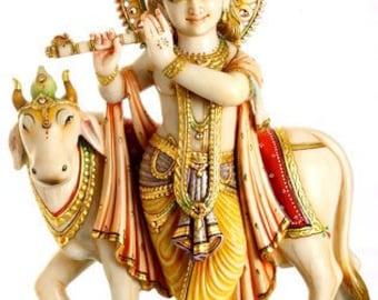 Handmade marble lord Gowgopal moorti