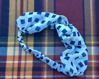 Navy Square Knot Elastic Headband