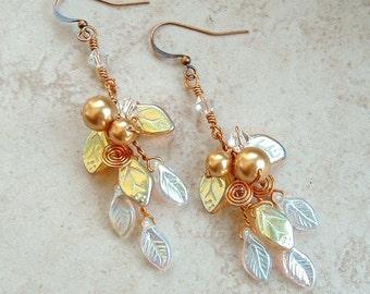 Lothlorien Crystal Art Nouveau Earrings