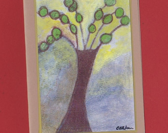 Blank Note Card Invitation Stationery - Untitled Tree Art