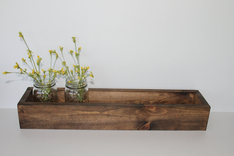 24 Wood Flower Box Wood Box Rustic Planter Box