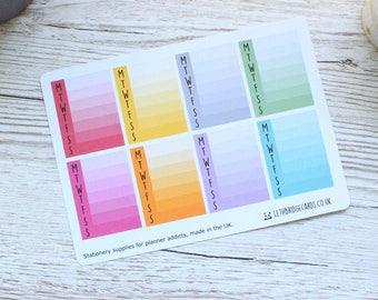 Full Box Weekly Tracker Planner Stickers; Step Tracker; Hydration Tracker; Erin Condren Sized Stickers; Filofax; Kikki K;Vinyl Matt Stickers