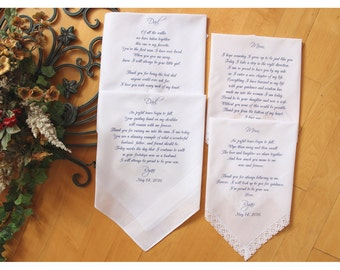 Parents of the Groom and Parents of the Bride Wedding handkerchiefs-Set of 4 handkerchiefs-PRINTED-CUSTOMIZED-MS1LS6FCAC[97]