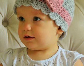 CROCHET PATTERN- The Delilah Beanie (Baby, Toddler, Child, Adult sizes)- crochet hat pattern crochet beanie-Instant PDF Download
