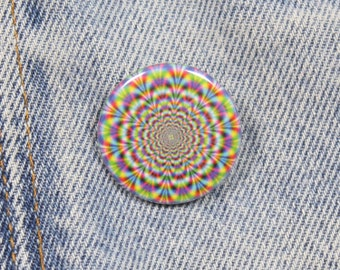 Psychedelic Swirl 1.25 Inch Pin Back Button Badge