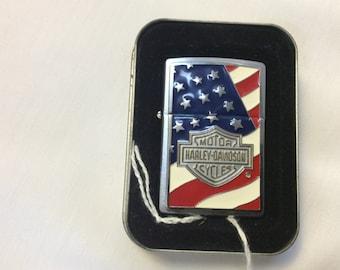 Vintage  Zippo Harley Davidson Americana Lighter 20685
