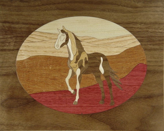 """8""""x 10"""" Marquetry Project Kit - Scout"""