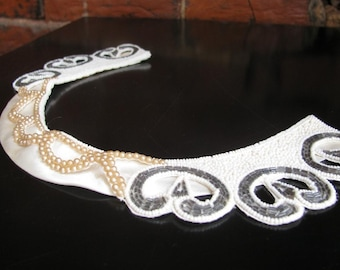 Vintage Beaded and Pearl Collar, very Mildred Pierce